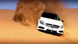 AMAZING A45 AMG free ride in desert ! (Option Auto)