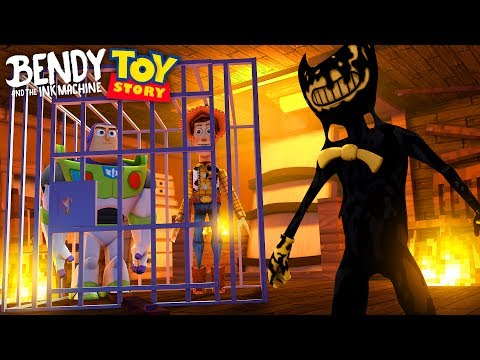 BENDY AND THE INK MACHINE CAPTURES BUZZ AND WOODY FROM TOY STORY  - Baby Max Minecraft Gameplay