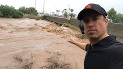 LIVE flash flood in Gila Bend AZ
