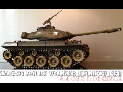 RC Tank M41A3 Walker BULLDOG pro 2.4 ghz 1/16 scale metal Taigen Torro Heng Long