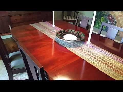 Dining room table buffet craigslist asheville nc youtube for Table asheville