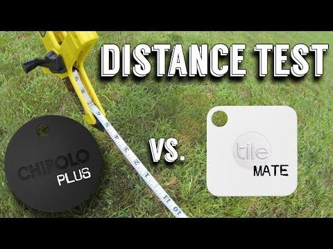 tile mate vs chipolo plus distance test