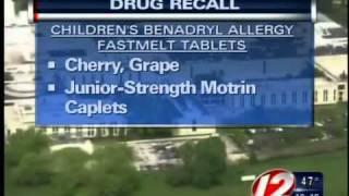 motrin, benadryl recall