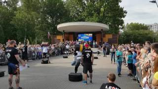 Artem Kobanov VS Sergey Belousov. keg 100 kg. Strongman Open League 16/17. Final