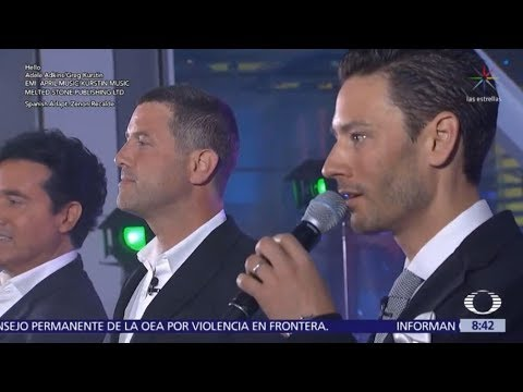 IL DIVO Hello &  Interview Noticiero Mexico 1742018