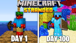 I Spent 100 days STRANDED at Sea (Minecraft)