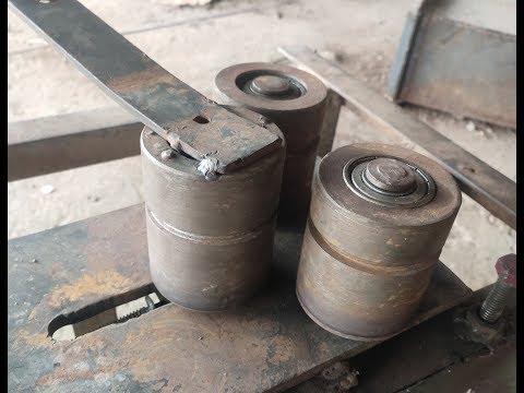 Make A Metal Bender    Homemade Roller Bender