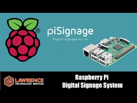 Open Source and Easy to use Raspberry Pi Digital Signage System