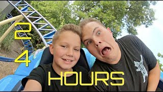 24 HOURS at an Amusement Park!