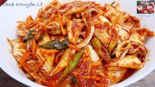 KIM CHI CẢI THẢO - Cách làm Kim Chi trộn ăn liền Chay mặn đều dùng được by Vanh Khuyen