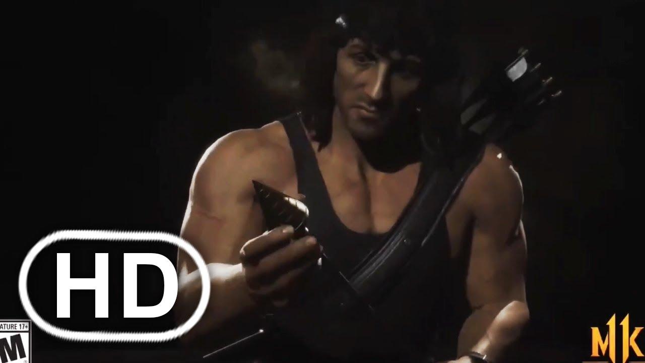 MK11 Rambo Todas Las Intros Y Outros Hasta El Momento (2020) HD Mortal Kombat 11 - Español Sub
