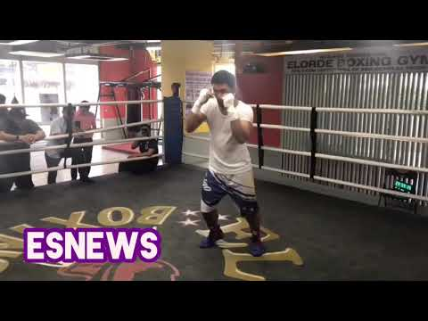 Manny Pacquiao camp in Philippines crazy Fast Hands