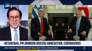 "Netanyahu tells Johnson ""Israel is ready to negotiate on the basis of President Trump's peace plan"""