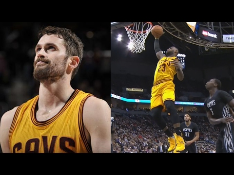 Kevin Love Out 6 Weeks! LeBron James No Look Pass! Cavs vs Timberwolves