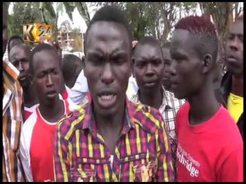 W.Pokot residents demonstrate, protesting alleged corruption by Police