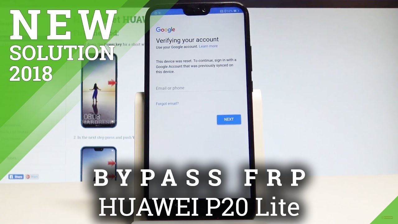 How to Bypass Google Verification in HUAWEI P20 Lite - Unlock FRP  |HardReset Info