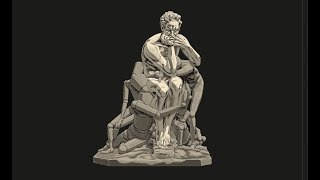 Sculpting Ugolino and His Sons by Jean-Baptiste Carpeaux using ZBrush 2018 - Part - 09