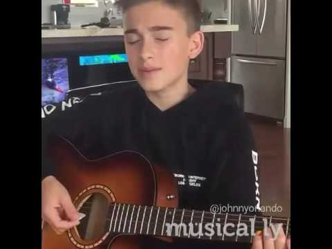Johnny Orlando singing/ Treat you...