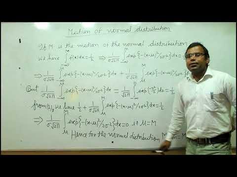 Median of Normal Distribution