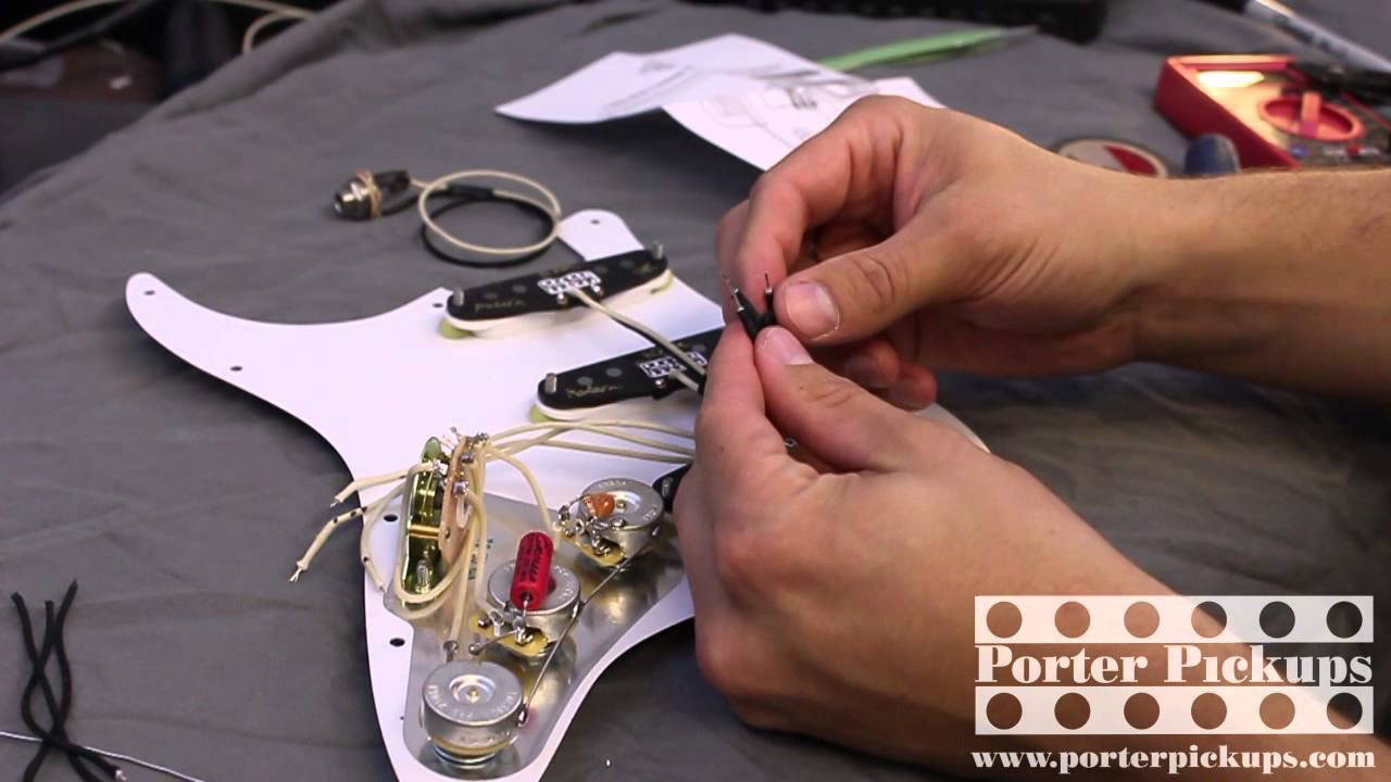 small resolution of porter pickups modern strat and emerson custom pre wired assembly install youtube