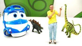 Динозавры оживают! Паровозик Кей и видео с игрушками Collecta