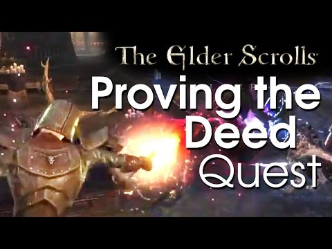 Elder Scrolls Online: Fighter's guild - Proving the Deed Quest Gameplay (Jofnir's killer!)