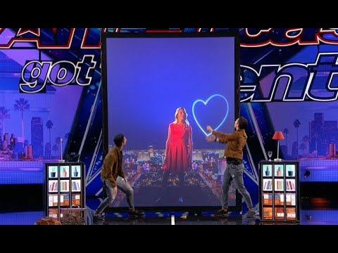 Tony & Jordan - French Twins: GROUNDBREAKING Hi-tech Magic!! | America's Got Talent 2017