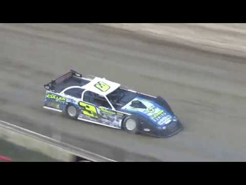 UMP Late Model Heat Race #3 at I-96 Speedway on 07-12-2018