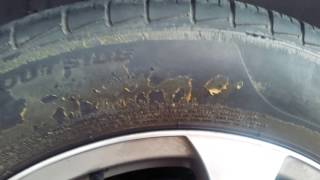Removing Tire Shine Coating From Tires.