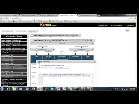 Karma data integration - Modeling positions file for VIVO upload