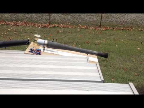 Pulsejet ER-90 bench run, trying HK pulsejet ignitor