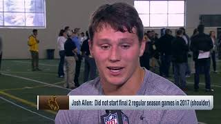 Wyoming QB Josh Allen aces Mike Mayock's pop quiz after his pro day | Mar 23, 2018