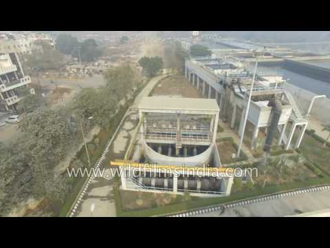 Aerial view of water treatment plant in India - how Ganga can be cleaned?
