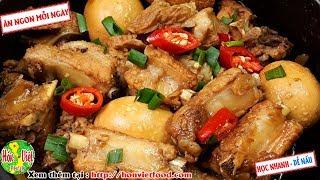 ✅ Cực Tốn Cơm Đậm Đà Với Món Sườn Kho Sô Đa Hấp Dẫn   Hồn Việt Food