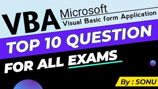 Visual Basic MCQs Top Best VBA…
