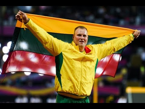 Andrius Gudzius wins the gold medal in the discus throw (IAAF WORLD CHAMPIONSHIPS 2017 LONDON)