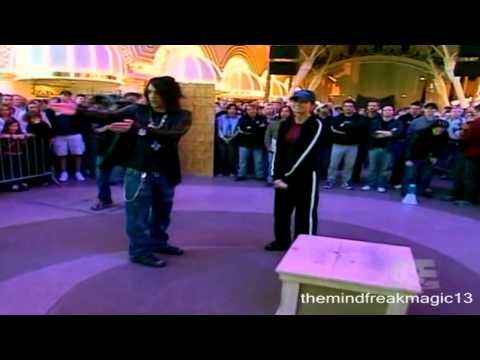 Criss Angel Mindfreak Vanishes an spectator on the street