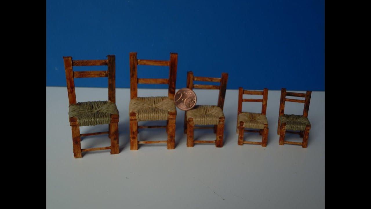 Tutorial come costruire le sedie per un presepe youtube - Come costruire una casa in miniatura ...
