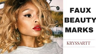 HOW TO: Faux Freckles/Beauty Marks & Bold Red Lips | KRYSSARTT
