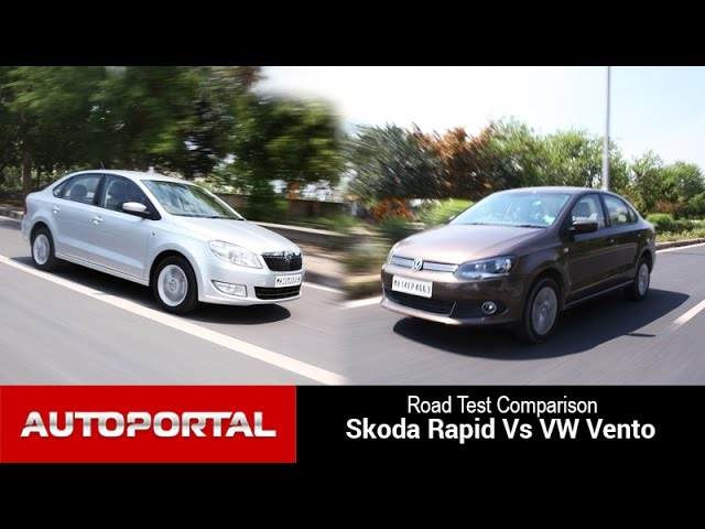 Skoda Rapid Vs VW Vento Test Drive Comparison - Autoportal