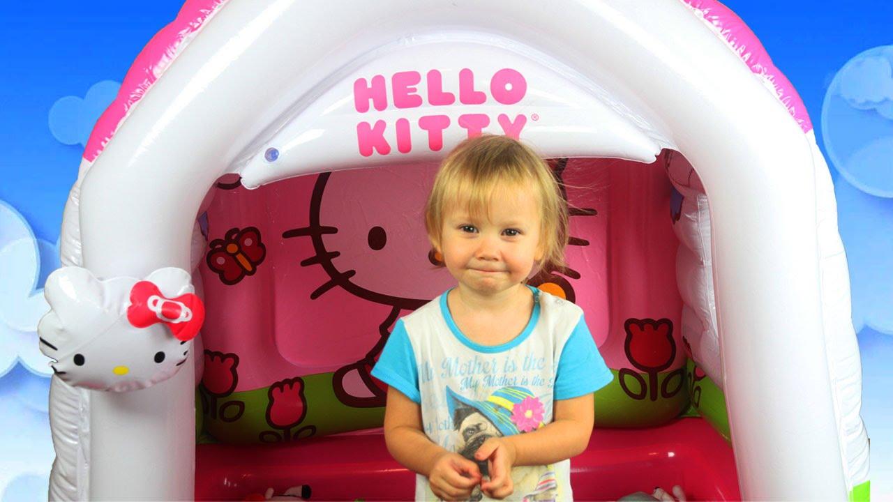 Hello Kitty ДОМИК Развлечение Для Детей Hello Kitty Playhouse Fun for Kids