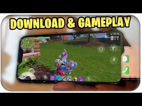 FORTNITE AUF HANDY GAMEPLAY, DOWNLOADEN UND SPIELEN | Fortnite Mobile Deutsch German