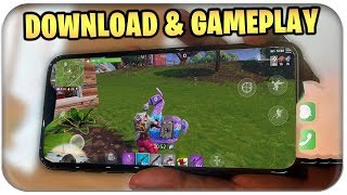FORTNITE ON HANDY GAMEPLAY, DOWNLOADAND PLAY | Fortnite Mobile German German