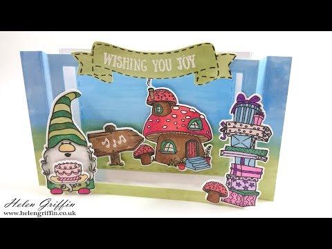 Gnome Scene 3D/Diorama Birthday Card Tutorial