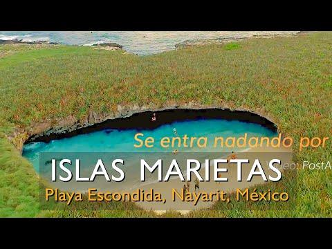 Conoce Islas Marietas y su Playa Escondida cerca de Puerto Vallarta, Jalisco, Mexico