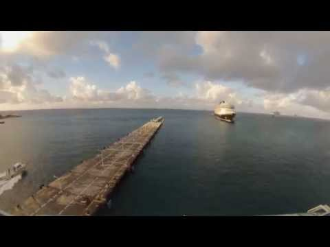 Philipsburg, Sint Maarten - Jewel of the Seas Arrival Time Lapse HD (2015)
