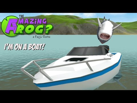 Amazing frog i'm on a boat