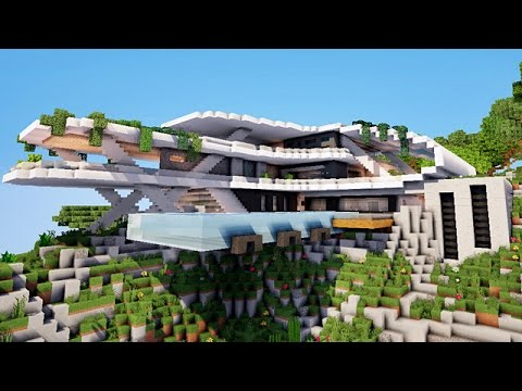 minecraft gingantesque maison moderne youtube. Black Bedroom Furniture Sets. Home Design Ideas