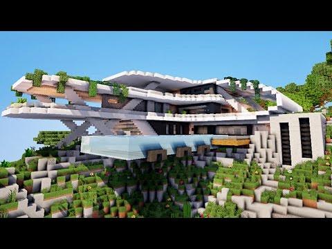Minecraft Gingantesque Maison Moderne Youtube