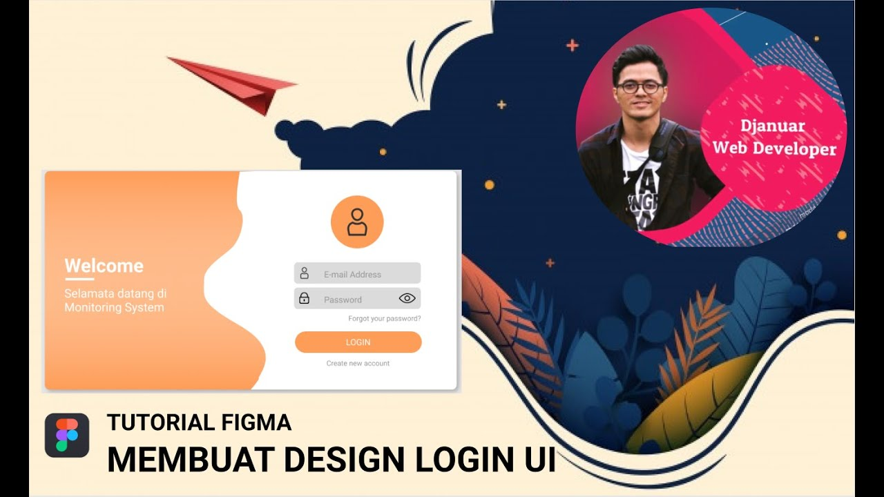 How to Create a Login UI Design Using Figma - Tutorial Figma